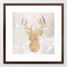 Modern deer Framed Art Print