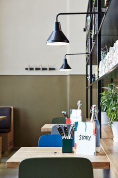 Copenhague chairs by Hay. Story restaurant at the Old Market Hall in Helsinki. Interior design by Joanna Laajisto.
