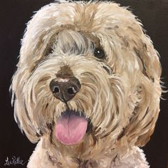 Goldendoodle Art Print, Golden Doodle print on Canvas or Archival Paper options, Doodle Art Goldendoodle Art, Goldendoodles, Labradoodles, Watercolor Paintings Of Animals, Animal Paintings, Dog Quilts, Rock Painting Designs, Dog Portraits, Dog Art