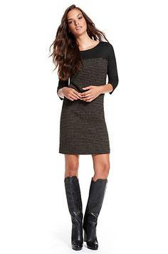 Boss Orange: Striped Stretch-Wool 'Adaline' Shift Dress, Open Miscellaneous