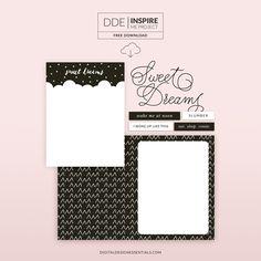 Quality DigiScrap Freebies: Sweet Dreams tiny kit freebie from Digital Design Essentials