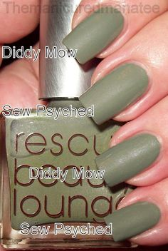 RBL Diddy Mow VS. Essie Sew Psyched.