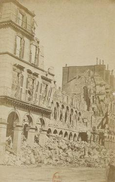 Ministère des Finances rue de Rivoli - 1871-1873, photographe Eugène Appert