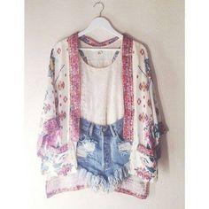 Tank, shorts, and kimono. Love it!!!