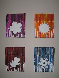 4 Seasons Melted Crayon Art
