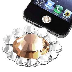 Home Button Sticker compatible with Apple? iPhone? / iPad? / iPod Touch?, Orange Diamond