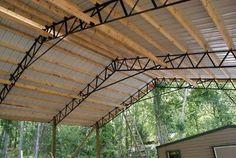 Pole barn roof kit 54x100x12 | eBay Pole Barn Garage, Building A Pole Barn, Building Plans, Steel Trusses, Roof Trusses, Pole Buildings, Steel Buildings, Shed Design, Cabin Design