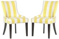 Safavieh Mercer Collection Lester Dining Chair, Yellow and White Stripe, Set of 2 Safavieh http://www.amazon.com/dp/B00KD83HHM/ref=cm_sw_r_pi_dp_XFuZvb0JXGTMJ