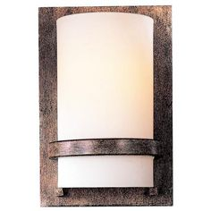 "Contemporary Iron 10"" High Wall Sconce - #23585 
