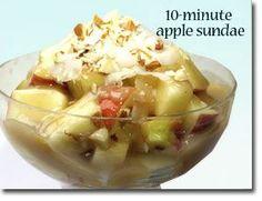 10-Minute Apple Sundae