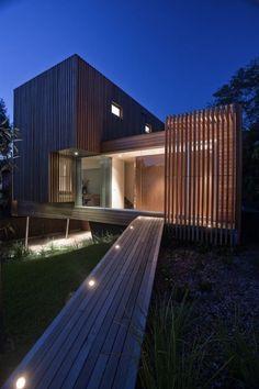 vertical cedar with charcoal zinc - Google Search