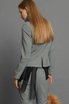 Reversed Petite Jacket - B+W Check
