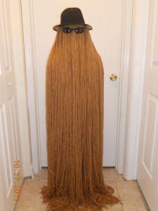 Cousin It Costume. #DIY #Halloween