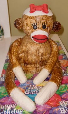 - This was my first attempt at a sock monkey.  I did this one for my son's girlfriend's b'day.  She collects sock monkeys.