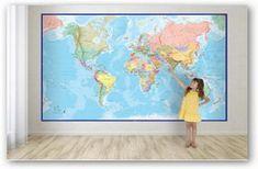 Carte murali e da parete: un grandissimo assortimento! Carte di qualsiasi luogo del mondo, planisferi politici, fisici, antichizzati, plastificati, decorativi, su tela, tutti i formati e tutti i tipi, montaggi su pannello, carte murali per l'arredo, da aula, per la scuola, per i viaggi.