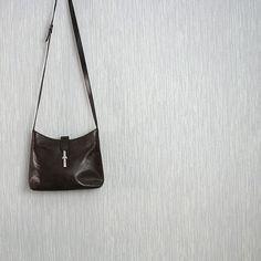 Vintage brown leather handbag  genuine leather bag by DamovFashion