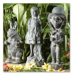 Alice in wonderland garden statues alice in wonderland more pinterest garden statues for Alice in wonderland garden statues