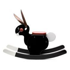 Playsam Wooden Rocking Rabbit