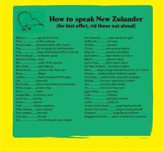 How to speak like a kiwi