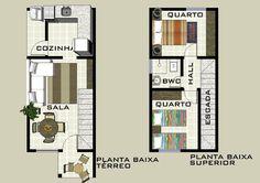 plantas de casas duplex com 2 quartos e garagem - Pesquisa Google