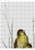 "Gallery.ru / kento - Альбом ""69"" Sea World, Cross Stitch, Birds, Pattern, Animals, Crossstitch, Log Projects, Dots, Animales"