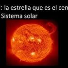 El Sistema Solar: 36 Solar System Vocabulary Words, Colorful Visuals, and Definitions in Spanish.