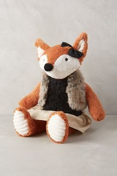 Anthropologie Fox Family Stuffed Animal #anthrofave