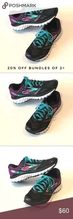 Brooks Ghost 9 Black/Sparkling Grape/Ceramic Brooks Ghost 9 Women's Running  Shoes Black