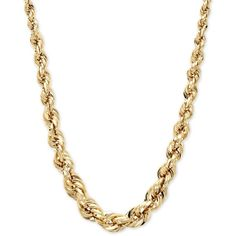 Square Graduated Polished Rope Chain in 14k Gold ($1,600) ❤ liked on Polyvore featuring jewelry, necklaces, accessories, chains, colares, 14k necklace, square necklace, yellow gold chain necklace, 14k rope chain necklace and graduation jewelry