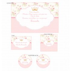 Kits Digitais Charme Papeteria - Princesa Floral Branco e Fundo Rosa Inspirational Artwork, Inspirational Gifts, Homemade Gifts, Diy Gifts, Empowering Women Quotes, Motivational Gifts, Personalized Gifts For Her, Sewing Room Organization, Vintage Designs