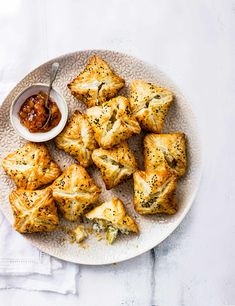 Best Vegetarian Canapés For Cheese, Onion and Potato Pie Recipe Check out these veggie potato pies with goat's cheese. These crispy pies are super easy party food for when you have visitors
