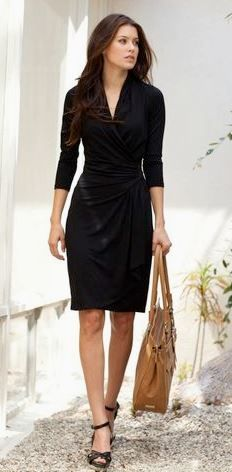 like the dress - classic black - I like wraps in general but don't often find colors/patterns I like aside from black