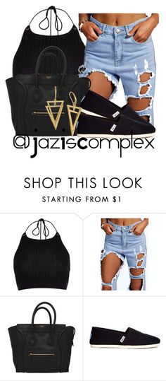 """""""Untitled #250"""" by jaziscomplex ❤ liked on Polyvore featuring River Island and TOMS"""