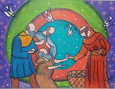 A Caridade de Assis - Pintura (Acrílica) - Juliano Silva