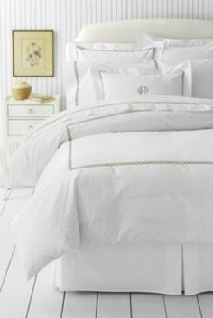 Tailored Hotel Embroidered Rope Duvet Cover or Sham from Lands' End