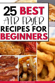 These quick and easy air fryer recipes use little to no oil to cook healthy, simple and delicious meals. Here are 25 Must-Have Air Fryer Recipes your whole family will enjoy. Air Fryer Oven Recipes, Air Frier Recipes, Air Fryer Dinner Recipes, Delicious Meals, Yummy Food, Air Fryer Healthy, Recipes For Beginners, Pressure Cooker Recipes, Other Recipes