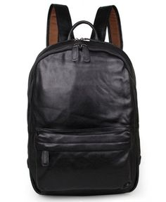 Black Leather Backpack Classic Style Canvas Leather 1fcdcbf3f26