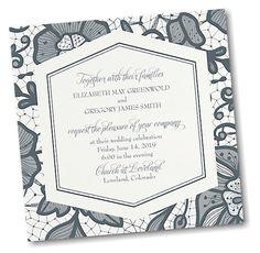 Lace Floral Wedding Invitation