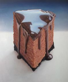 Mary Ellen Johnson, Chocolate Cheesecake this looks like a photo..amazing painting