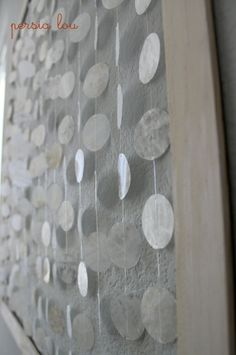 """Hanging """"shell"""" art--the 'shells"""" are waxed paper! Tutorial The Country Chic Cottage)"""