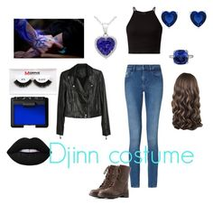 """Djinn Costume"" by smsswimmer on Polyvore featuring Calvin Klein, Charlotte Russe, Paige Denim, Morphe, NARS Cosmetics and Lime Crime"