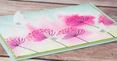 Stampin' Up! UK Feeling Crafty - Bekka Prideaux Stampin' Up! UK Independent Demonstrator: Watercoloured Flowers Card for Any Occasion