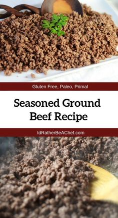 Seasoned Ground Beef Recipe - - Seasoned ground beef is great to keep on hand for last minute meals. Making flavorful ground beef is the foundation to incredible dishes like tacos, stuffed peppers and more! Seasoned Ground Beef Recipe, Ground Beef Seasoning, Hamburger Seasoning, Healthy Ground Beef, Cooking With Ground Beef, Ground Beef Recipes, Ground Beef Quesadillas, Ground Beef Tacos, How To Cook Hamburgers