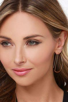 Chic Gold Earrings - Wire Earrings - Threader Earrings - $11.00