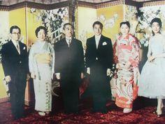 vintage Japanese photo print wedding emperor empress heisei showa hirohito akihito michiko kimono