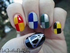 Harry Potter nails.,  Go To www.likegossip.com to get more Gossip News!