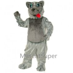 Cute Lobo Dog Mascot Costume