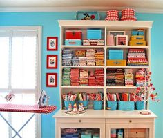 Colourful way: sewing room