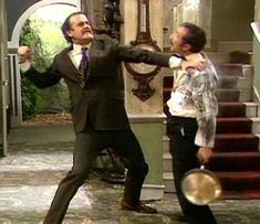 Fawlty Towers - i love how he can't understand english!!!!!!!!!!!