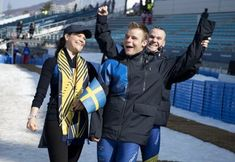Crown Princess Victoria visited with Swedish athletes competing at the 2018 Paralympic Winter Games in Pyeongchang, South Korea. March 14, 2018